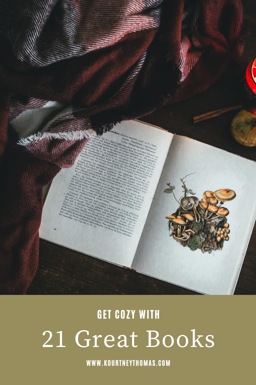 get cozy with 21 books | kourtney thomas fitness life coach